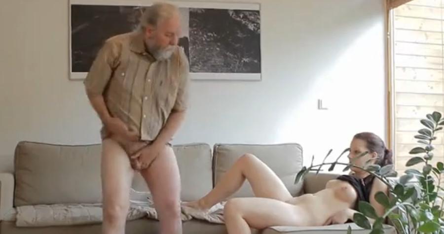 дед и внучка наглый
